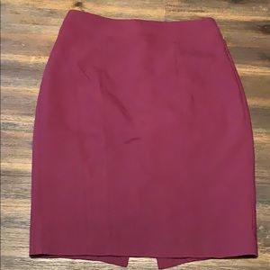 Express maroon pencil skirt size 2